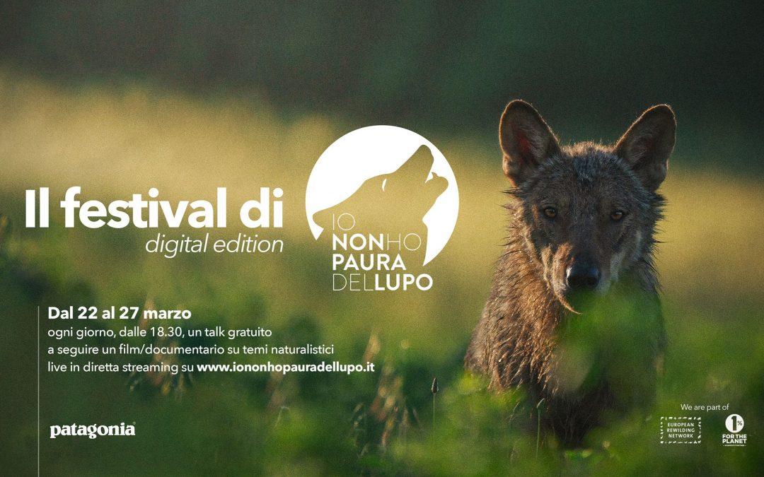 """Guarda ora tutti i """"talk"""" del Festival di #iononhopauradellupo – digital edition"""